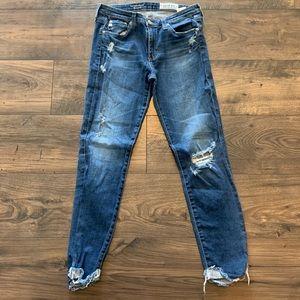 AG Prima Roll Up Denim 27 Cigarette Jeans